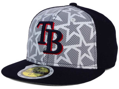 Tampa Bay Rays New Era 2016 MLB Kids AC Stars & Stripes 59FIFTY Cap