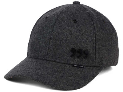 Three Commas Graphite Melton Wool Faux Leather Cap
