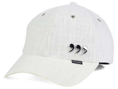 Three Commas White Linen Cap