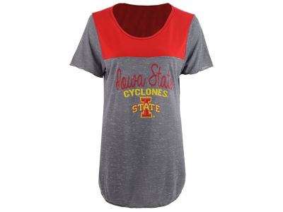 Iowa State Cyclones Blue 84 NCAA Women's Confetti Yolk Block T-Shirt