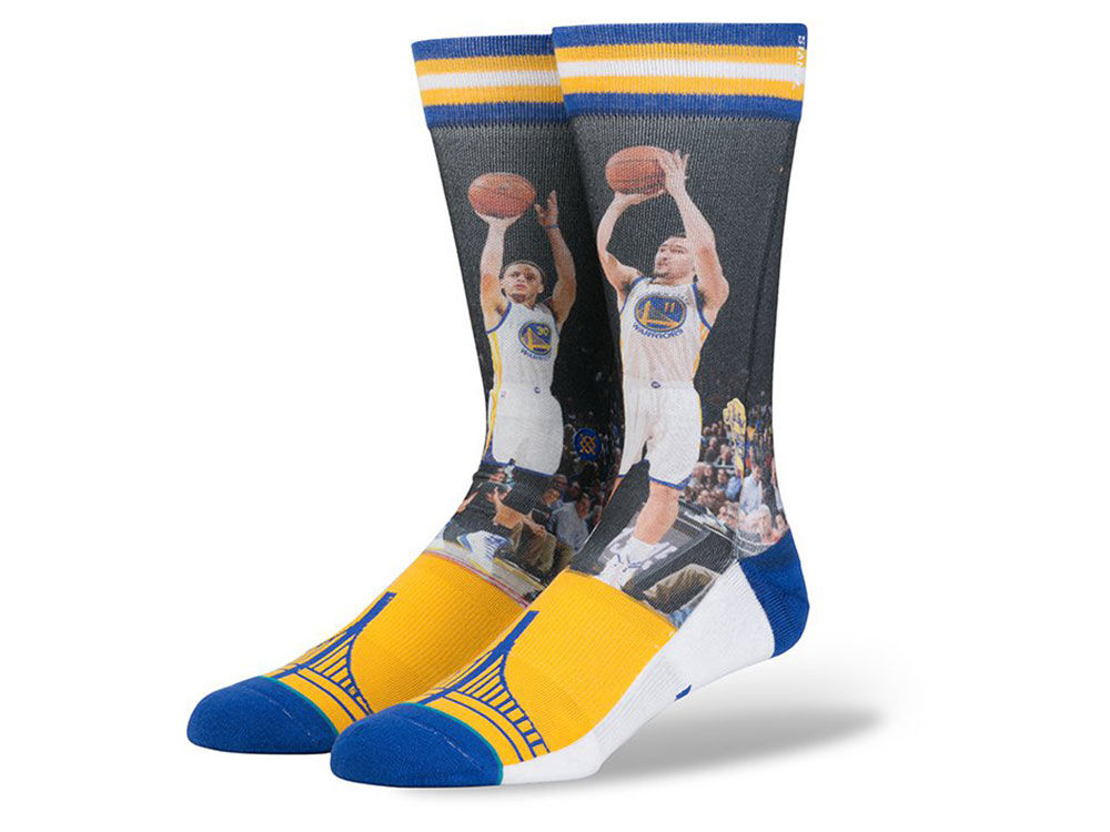 Golden State Warriors Steph Curry & Klay Thompson Stance NBA Future Legends  Crew Socks - Golden State Warriors Steph Curry & Klay Thompson Stance NBA