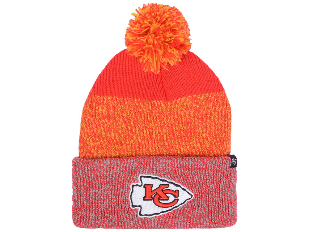 95b335a25 Kansas City Chiefs '47 NFL Static Cuff Pom Knit
