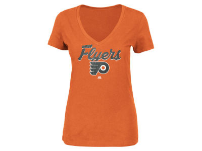 Philadelphia Flyers Majestic NHL Women's Match Penalty Glitter T-Shirt