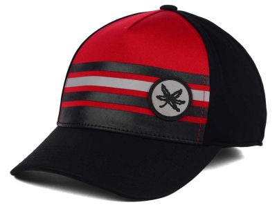 Ohio State Buckeyes J America NCAA Striped Up Leaf Cap