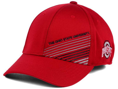 Ohio State Buckeyes J America NCAA Two Tone Density Stripe Cap