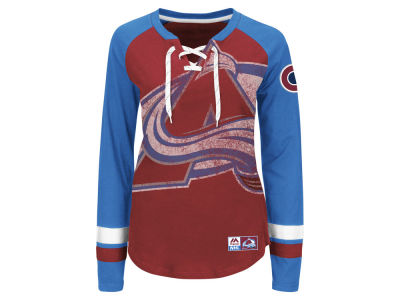 Colorado Avalanche Majestic NHL Women's Hip Check Long Sleeve T-Shirt