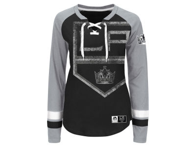 Los Angeles Kings Majestic NHL Women's Hip Check Long Sleeve T-Shirt