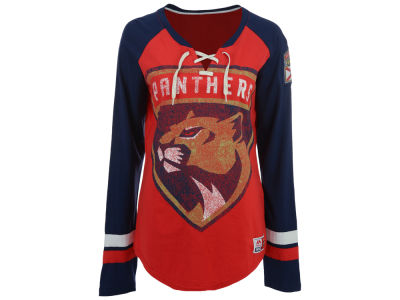 Florida Panthers Majestic NHL Women's Hip Check Long Sleeve T-Shirt