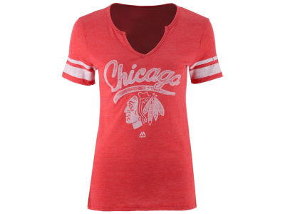 Chicago Blackhawks Majestic NHL Women's Tag Up T-Shirt