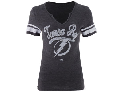 Tampa Bay Lightning Majestic NHL Women's Tag Up T-Shirt