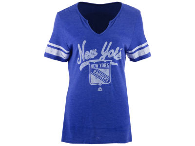 New York Rangers Majestic NHL Women's Tag Up T-Shirt
