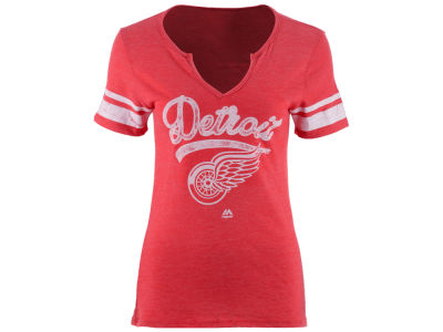 Detroit Red Wings Majestic NHL Women's Tag Up T-Shirt