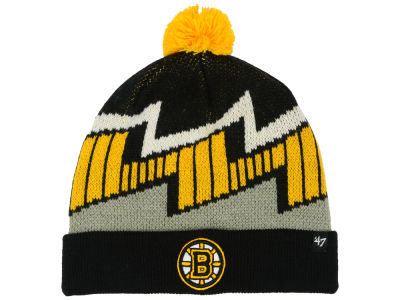 Boston Bruins '47 NHL Youth Landon Cuff Knit