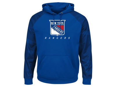 New York Rangers Majestic NHL Men's Penalty Shot Synthetic Hoodie