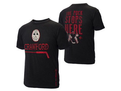 Chicago Blackhawks Corey Crawford NHL Men's The Puck Stops Here T-Shirt