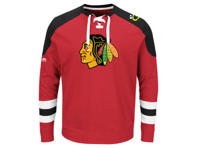 Chicago Blackhawks Majestic NHL Centre Long Sleeve Jersey Top