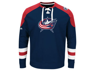 Columbus Blue Jackets Majestic NHL Centre Long Sleeve Jersey Top