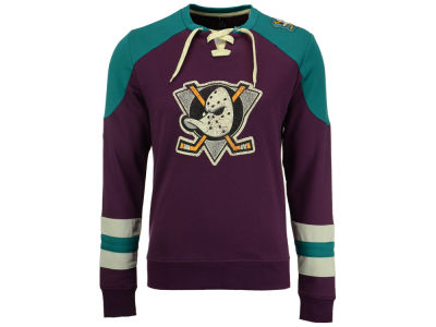 Anaheim Ducks Majestic NHL Vintage Centre Long Sleeve Jersey Top