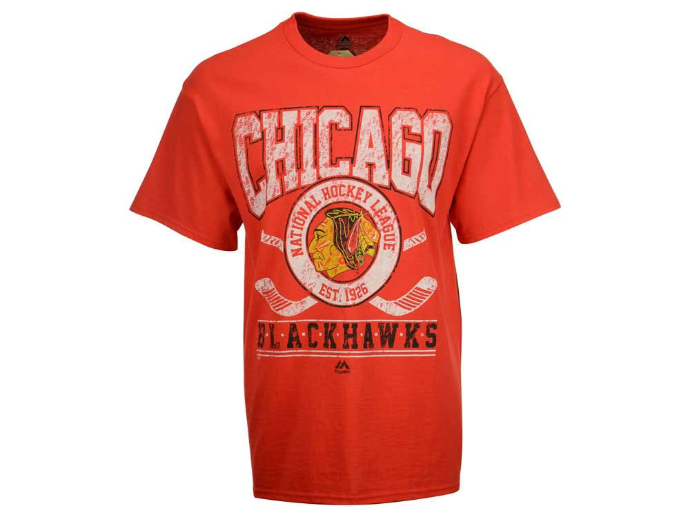 f304b1b1a Chicago Blackhawks Majestic NHL Men s Vintage Five on Five T-Shirt ...