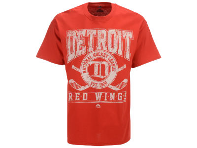 Detroit Red Wings Majestic NHL Men's Vintage Five on Five T-Shirt