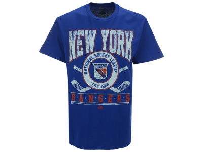 New York Rangers Majestic NHL Men's Vintage Five on Five T-Shirt