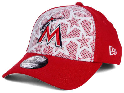 Miami Marlins New Era 2016 MLB AC Stars & Stripes 39THIRTY Cap