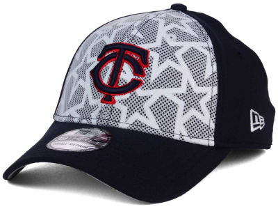 Minnesota Twins New Era 2016 MLB AC Stars & Stripes 39THIRTY Cap