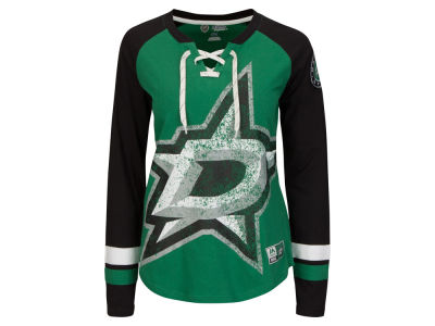 Dallas Stars Majestic NHL Women's Hip Check Long Sleeve T-Shirt