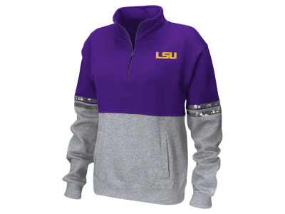 LSU Tigers Colosseum NCAA Women's Rudy Quarter Zip Sweatshirt