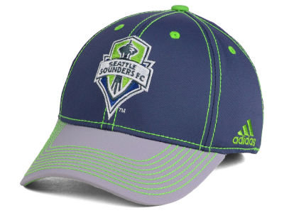 Seattle Sounders FC adidas MLS Darkness Flex Cap