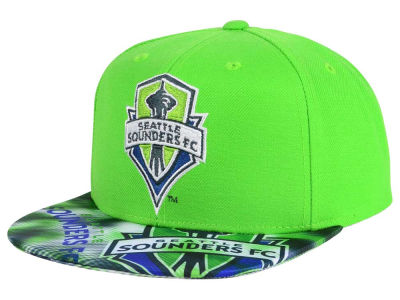 Seattle Sounders FC adidas MLS Visor Flash Snapback Cap