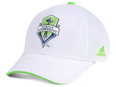 Seattle Sounders FC adidas MLS Clean White Flex Cap