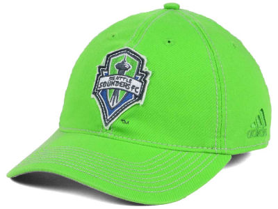 Seattle Sounders FC adidas MLS Garment Wash Slouch Flex Cap