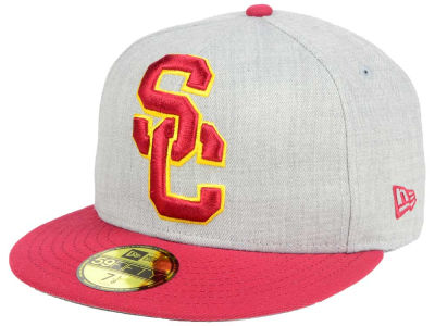 USC Trojans DCM NCAA Heather Grand 59FIFTY Cap