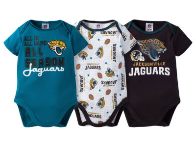 Jacksonville Jaguars NFL Newborn 3 Piece Creeper Set
