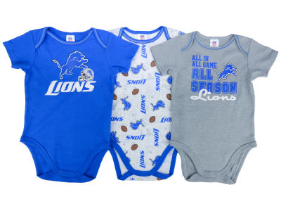 Detroit Lions NFL Newborn 3 Piece Creeper Set