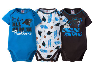 Carolina Panthers NFL Infant 3 Piece Creeper Set