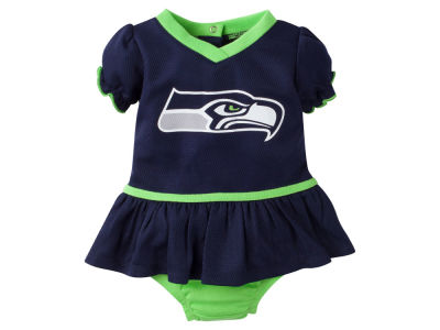 Seattle Seahawks NFL Newborn Girls Dazzle Dress
