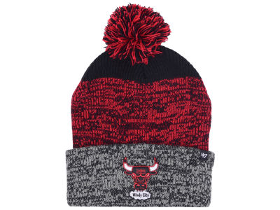 Chicago Bulls '47 NBA Black Static Pom Knit