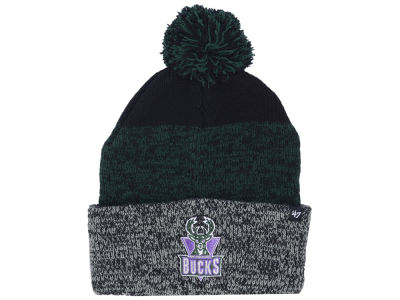 Milwaukee Bucks '47 NBA Black Static Pom Knit