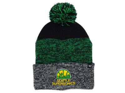 Seattle SuperSonics '47 NBA Black Static Pom Knit