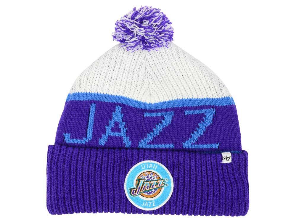 hot sale online a2697 c58cb ... switzerland utah jazz 47 nba 47 tackle box pom knit lids 46e00 33a54