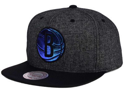 Brooklyn Nets Mitchell & Ness NBA Reflective Gaze Snapback Cap