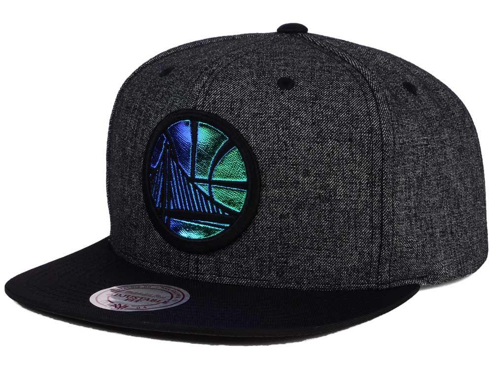 9b5038b8302 Golden State Warriors Mitchell   Ness NBA Reflective Gaze Snapback Cap