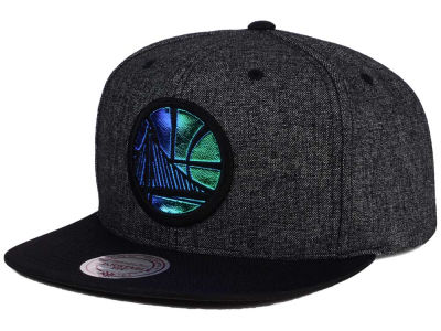 Golden State Warriors Mitchell and Ness NBA Reflective Gaze Snapback Cap