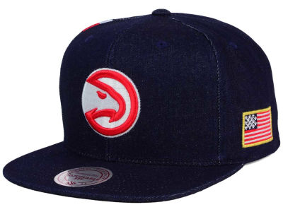 Atlanta Hawks Mitchell and Ness NBA USA Denim Snapback Cap
