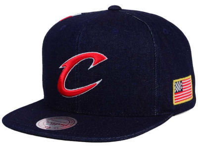 Cleveland Cavaliers Mitchell and Ness NBA USA Denim Snapback Cap