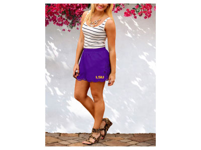 LSU Tigers Gameday Couture NCAA Women's Laser Cut Scalloped Shorts