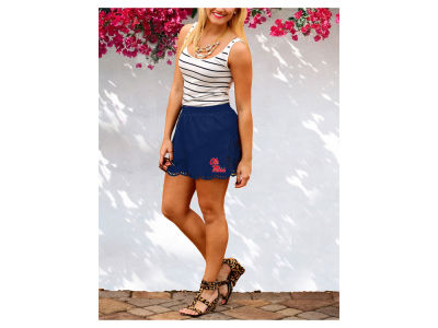 Ole Miss Rebels Gameday Couture NCAA Women's Laser Cut Scalloped Shorts