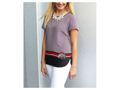 Ohio State Buckeyes Gameday Couture NCAA Women's Herringbone Chiffon Top